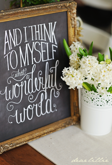 What a Wonderful World Chalkboard Print Chalkboard