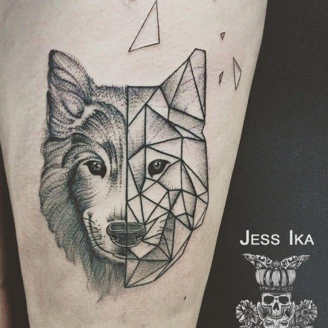 loup jessika tattoos tatouage tatouage loup et. Black Bedroom Furniture Sets. Home Design Ideas