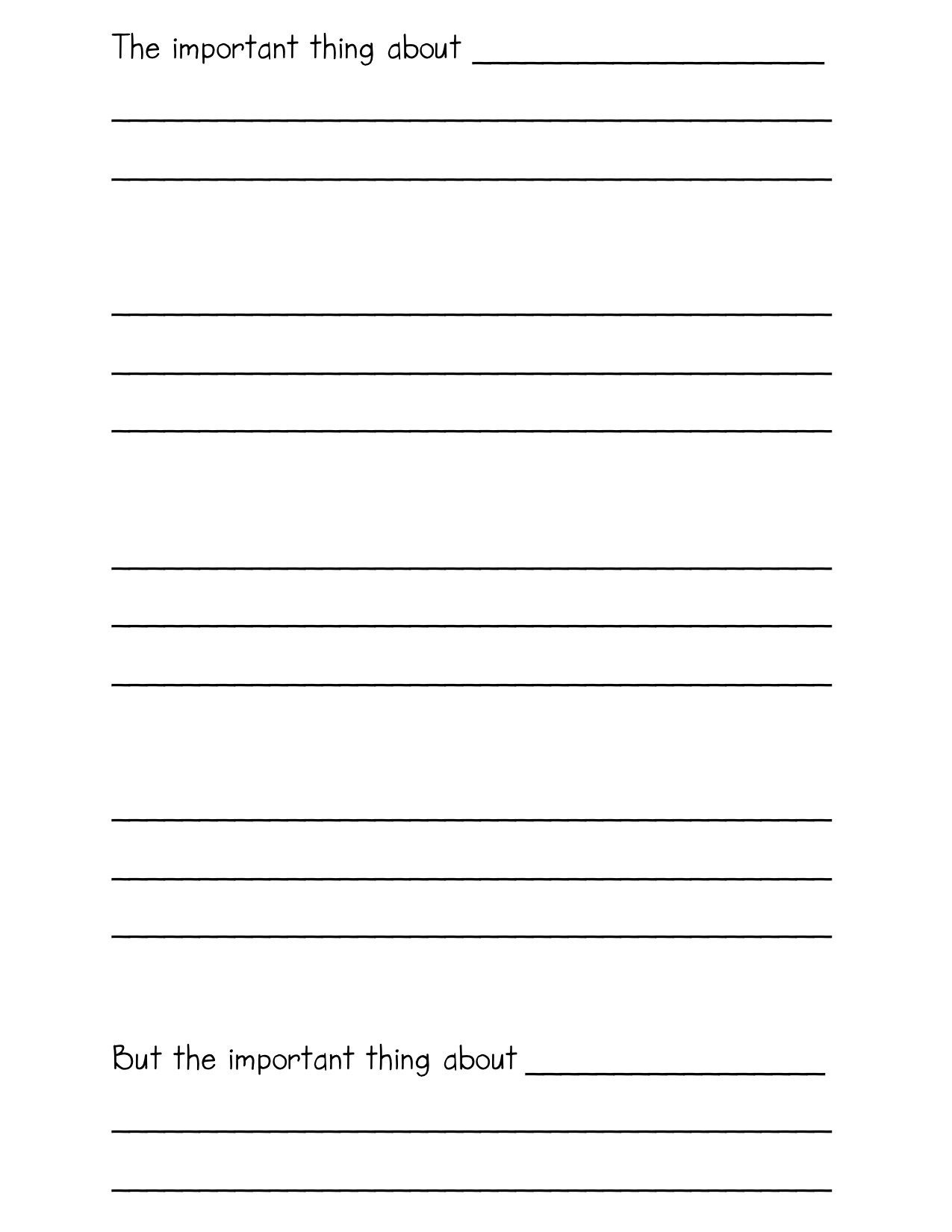 The Important Book | Pinterest | Template, Writing problems and Homework