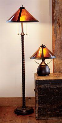 Bean Pot Mica Lamp And Reading