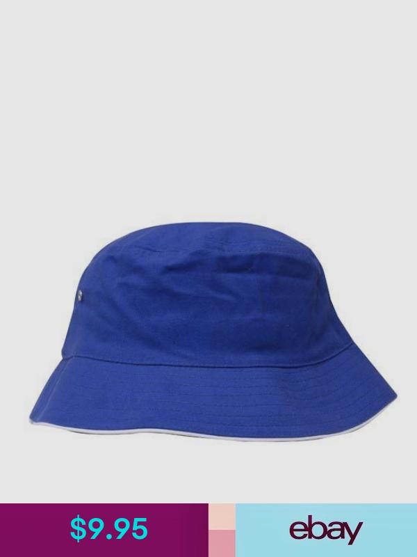 New Plain ROYAL BLUE Cotton Twill Beach BUCKET HAT Sun Cover