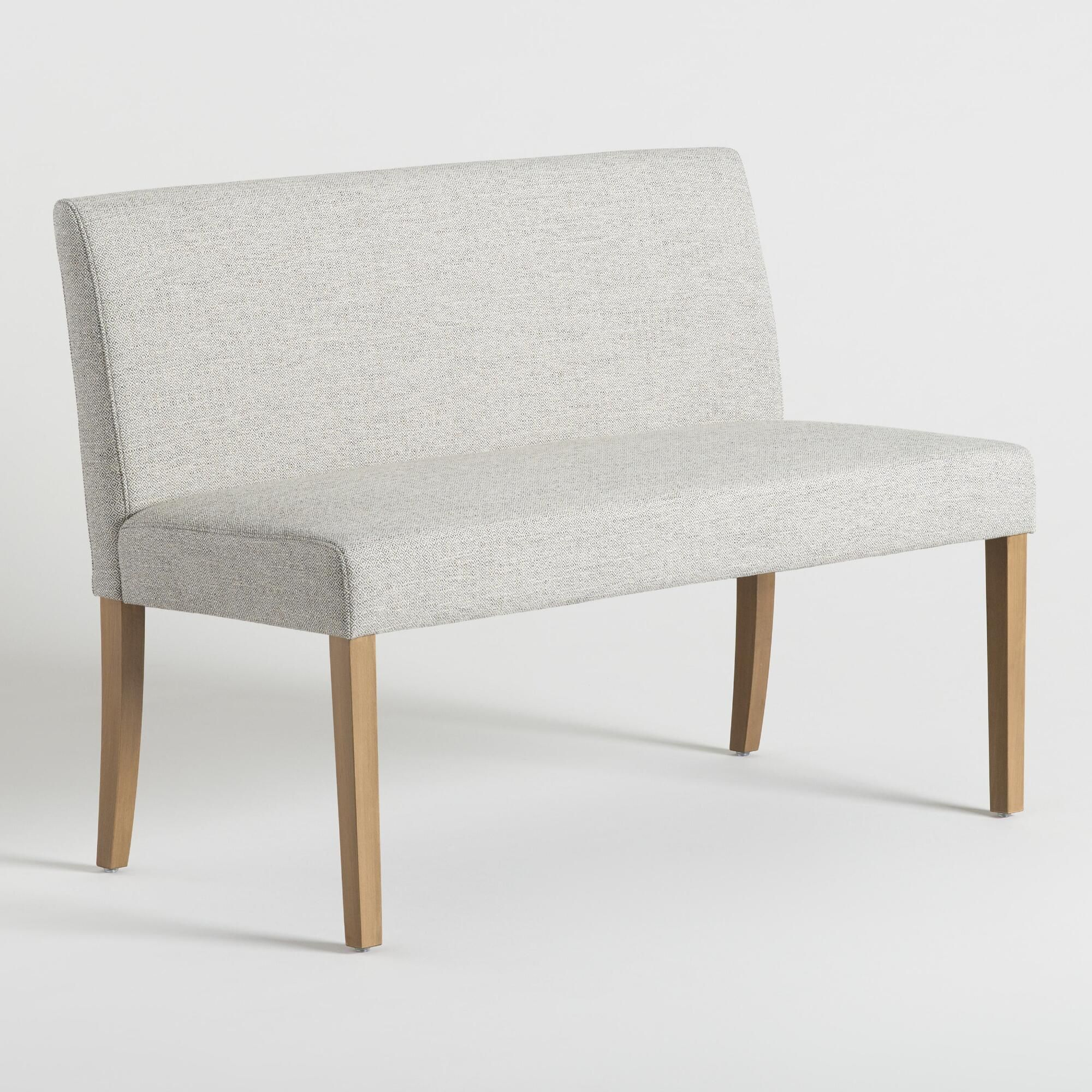 Gray Fletcher Upholstered Dining Bench By World Market In 2020
