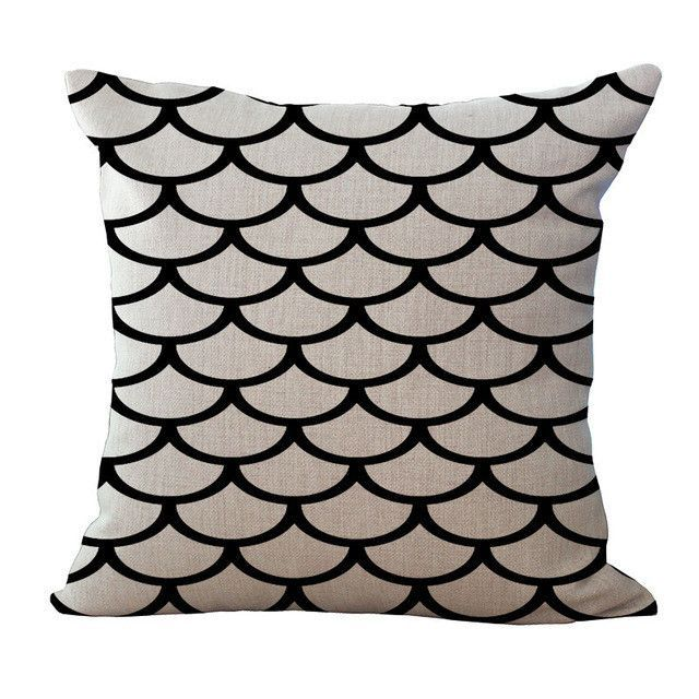 Black & Whiten Abstract Print Pillow Cases
