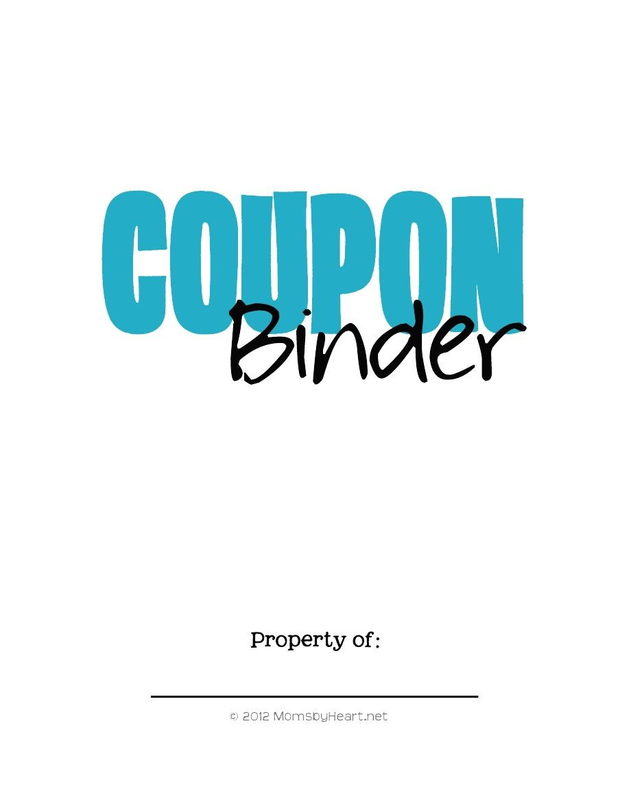 Cover Store Coupon >> Free Coupon Binder Cover Pages Coupon Binder Binder