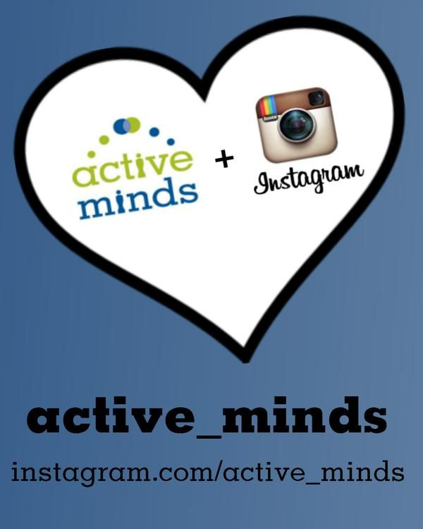 We're on #Instagram! Follow us for #inspirational images and #mentalhealth facts!