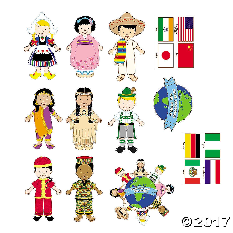Jumbo Kids Around The World Cutouts