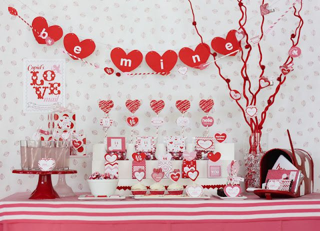 Cupid S Post Office Valentine S Day Party Kara S Party Ideas Valentines Party Valentines Day Party Valentines Party Decor