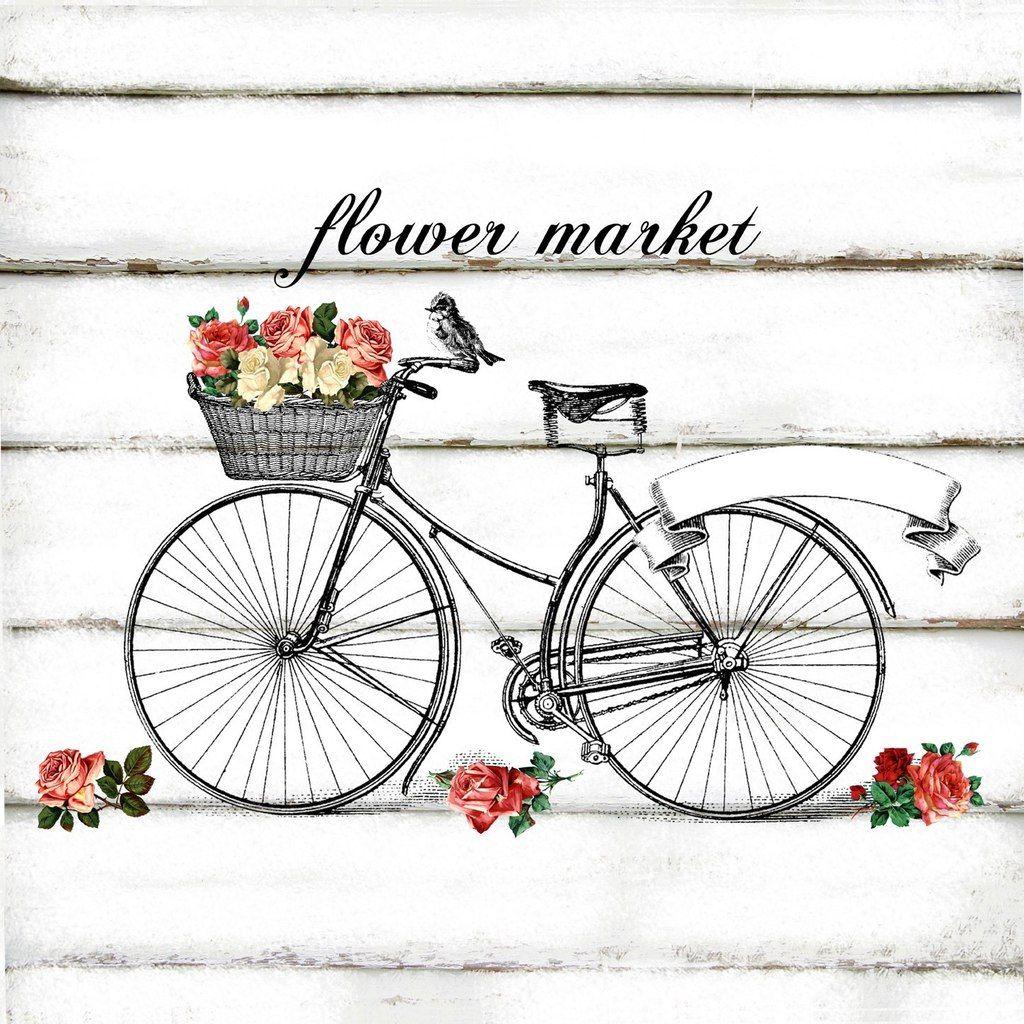 Открытки, винтажные картинки велосипедов
