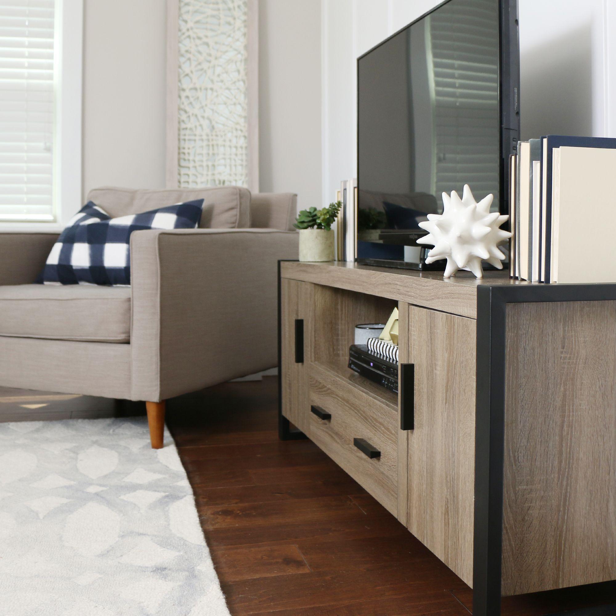 """Walker Edison's Urban Blend 60"""" TV Stand #livingroom #familyroom #walkeredison #tvstand"""