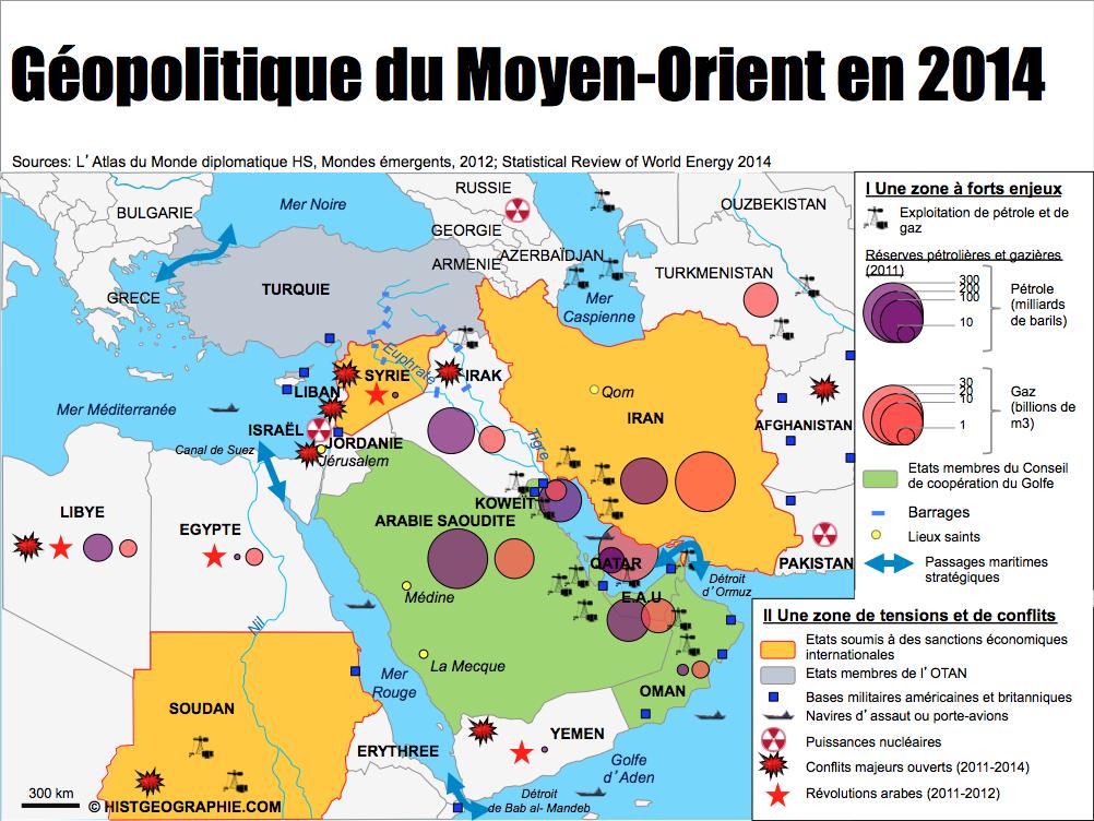 Carte Du Monde Orient.Carte Geopolitique Du Moyen Orient En 2014 Zone A Fort