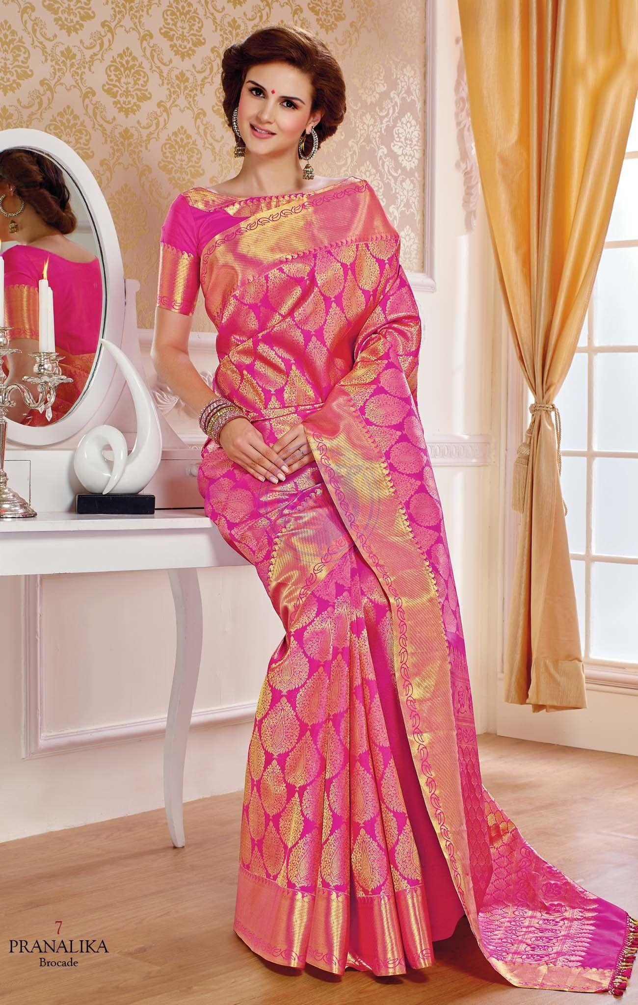 ab38b22f73 Vivaha Branded Kanchipuram Silk Saree VBBS0007   Indian sari and ...