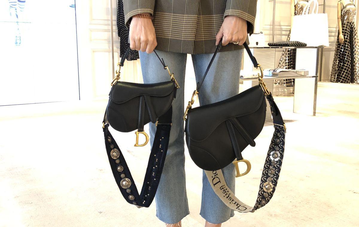 9639a1015 Dior Saddle vs Mini Saddle Bag Size Comparison | Fashions in 2019 ...
