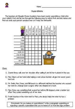 20++ Free logic worksheets for 5th graders Images