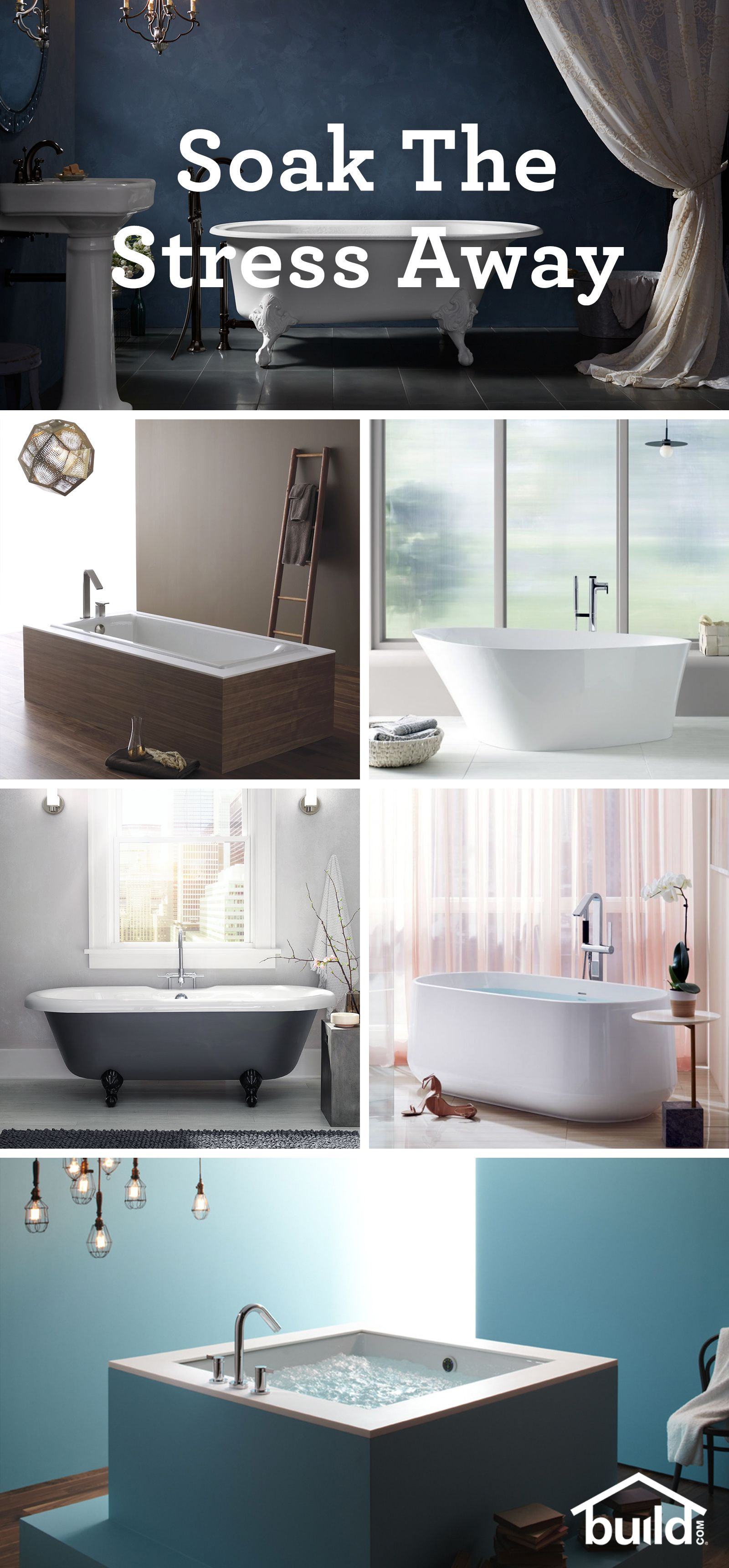 8 Different Types of Bathtubs Explained | House | Pinterest ...