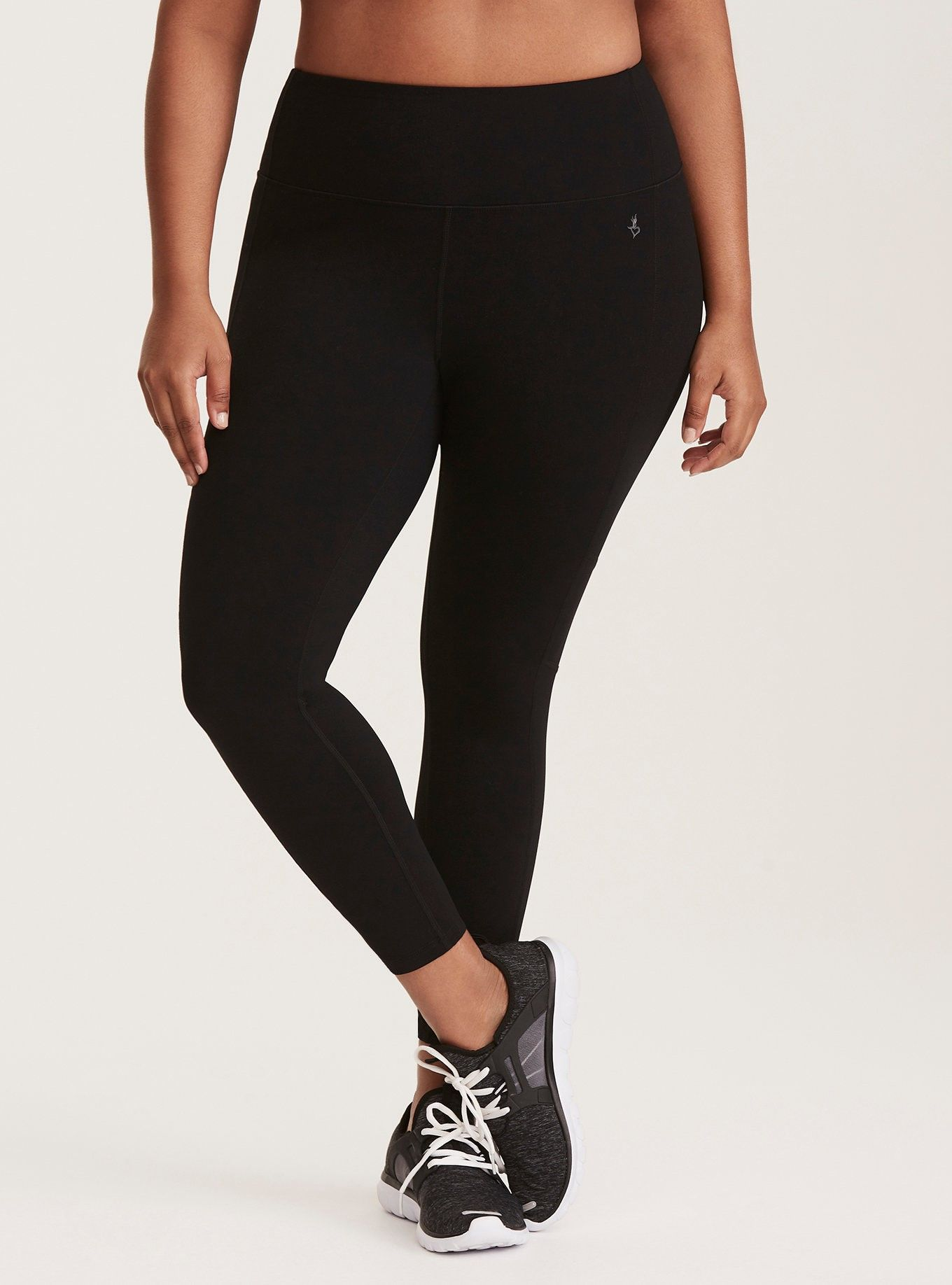 d691866dc4b37 Black Cropped Active Legging - A 4-way stretch crop legging is designed  with wicking technology to keep you cool and dry, while flat seams improve  your ...