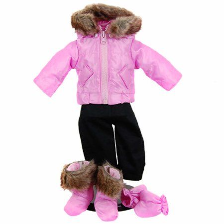 Baby Doll Clothes At Walmart 15 In Baby Doll Clothes Twin 6Pc Bitty Pink Winter Jacket Pants