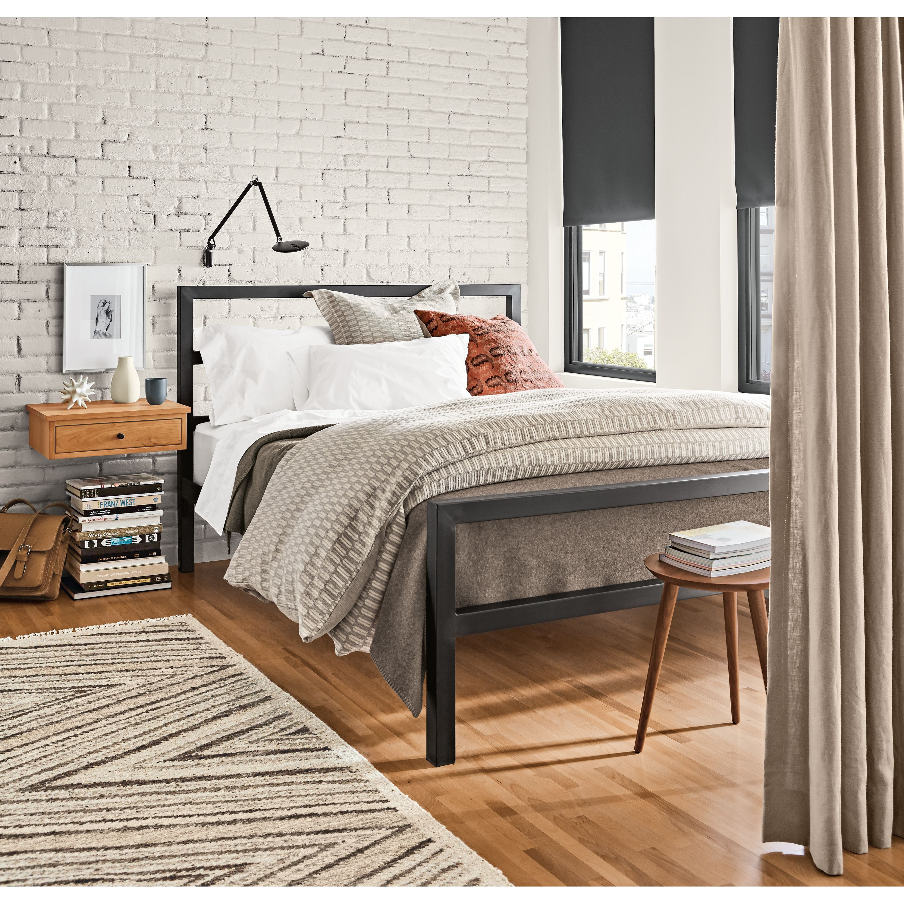 61073e2a50 Room & Board | Sheffield Duvet Cover & Shams in White/Natural in ...