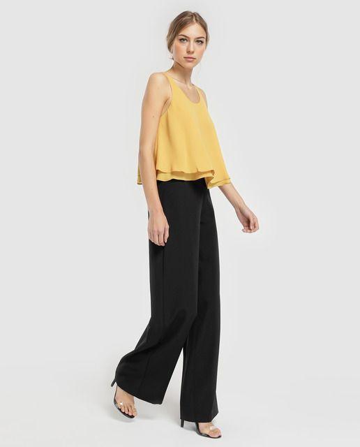 Photo of Green Coast – Pantaloni larghi con zip laterali da donna di Green Coast