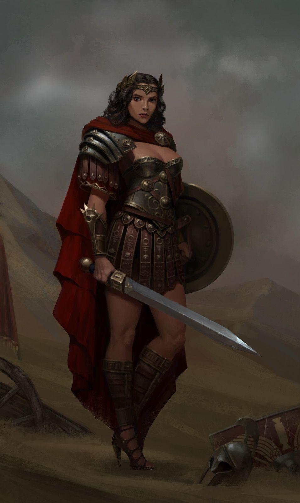 Pin by orangemagik on woman at arms warrior queen - Fantasy female warrior artwork ...