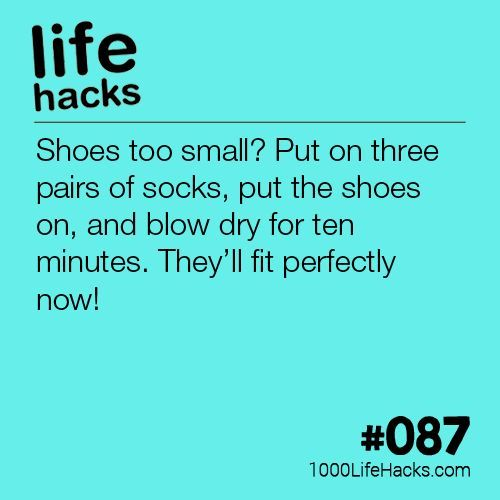 #087 – How To Make Your Shoes Bigger (1000 Life Hacks) -   14 DIY Clothes Winter life hacks ideas