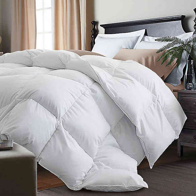 Kathy Ireland White Goose Feather And Goose Down Comforter Bed