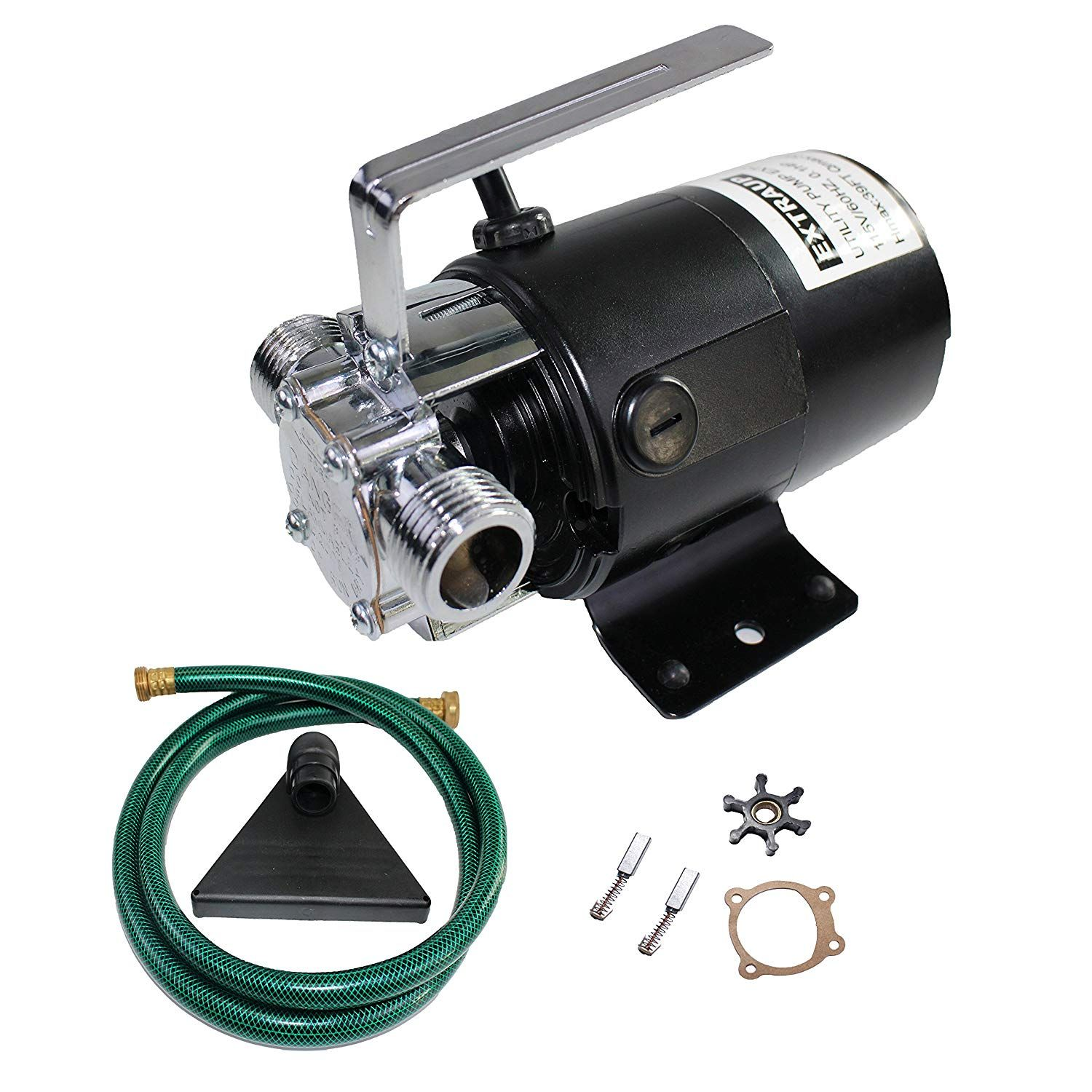 Extraup 115volt 330 Gph Portable Low Suction Electric Water Transfer Revmoval Utility Pump With Suction Hose Kit Electric Water Pump Utility Pumps Suction Hose