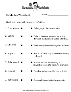 Worksheets Free Printable Vocabulary Worksheets english vocabulary worksheet esl learning pinterest worksheets free printable for teachers and kids