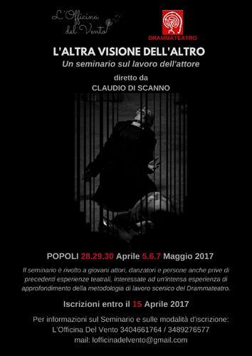 Popoli LAltra visione dellAltro: un seminario teatrale diretto da Claudio Di Scanno