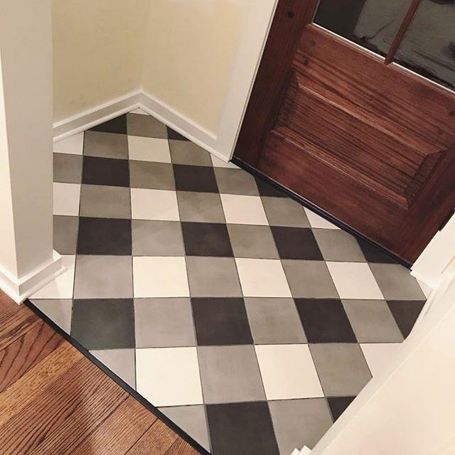 Raelyn Woltz Westend Interiors Buffalo Check Plaid Floor Tile Pattern Dream Bathroom Luxury Patterned Floor Tiles Tile Floor