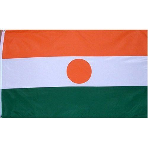 Niger Flag Polyester 3 ft. x 5 ft. by Flags Unlimited. $6.68. Durable Polyester Material. Made To United Nations Specs. 3 x 5 ft Polyester flag with 2 brass grommets. These polyester flags not recommended for prolonged outdoor use. For outdoor use, we recommend our nylon flags.