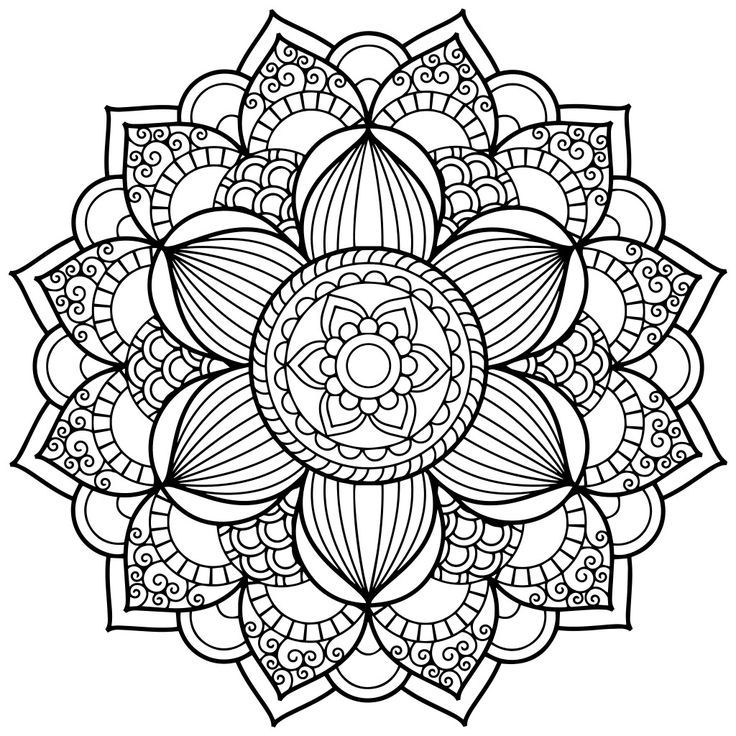 Mandala Art Coloring Pages | 1000+ Ideas About Mandala Coloring ...