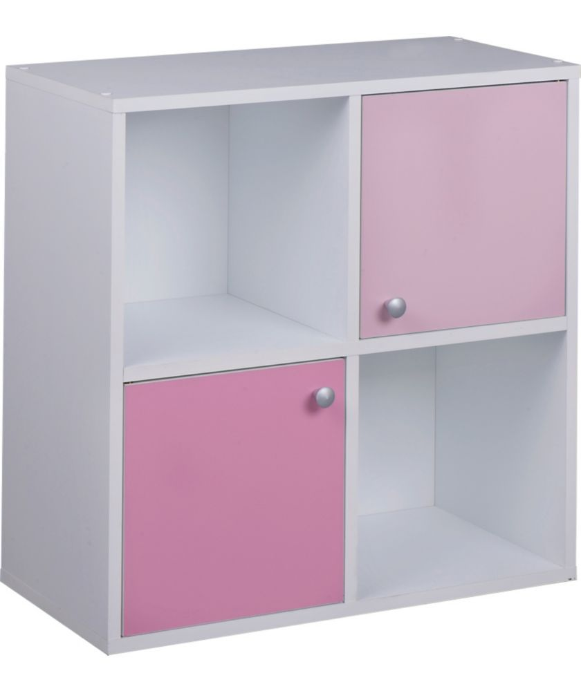 Buy Phoenix Half Door Storage Cubes   Pink On White At Argos.co.uk