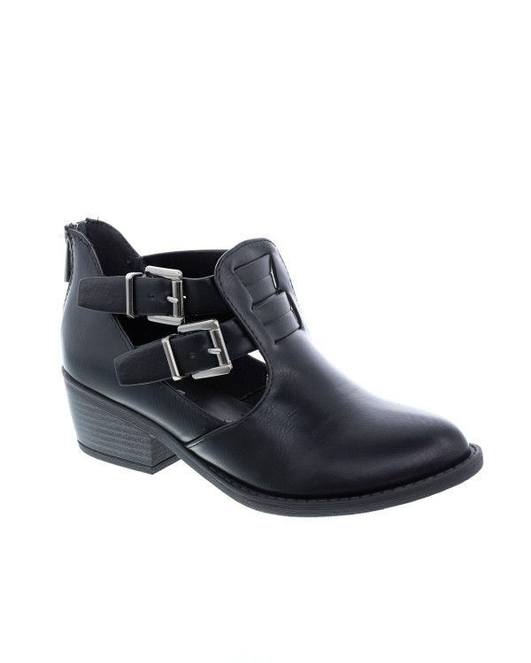 Parade-S Cut Out Ankle Strap Bootie