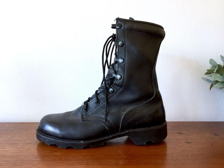Black Leather Combat Boots / Altama
