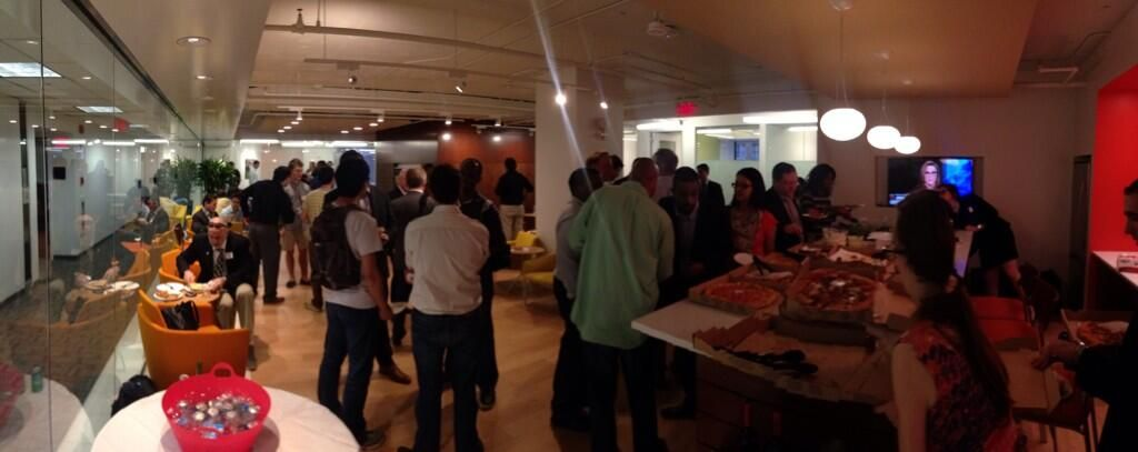 The @TechBreakfast event at @CWFarragutNorth last night! What a great way to top off the successful opening of a new #coworking space! Join us next week for Jelly Week! !  http://ow.ly/wytsq