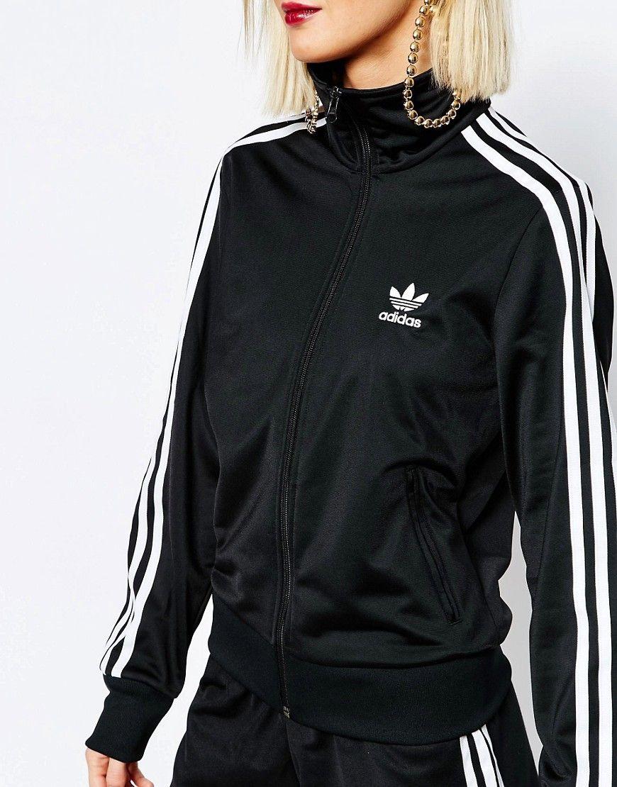 Adidas Originals adicolour 3 Stripe Zip Front Firebird Track Top