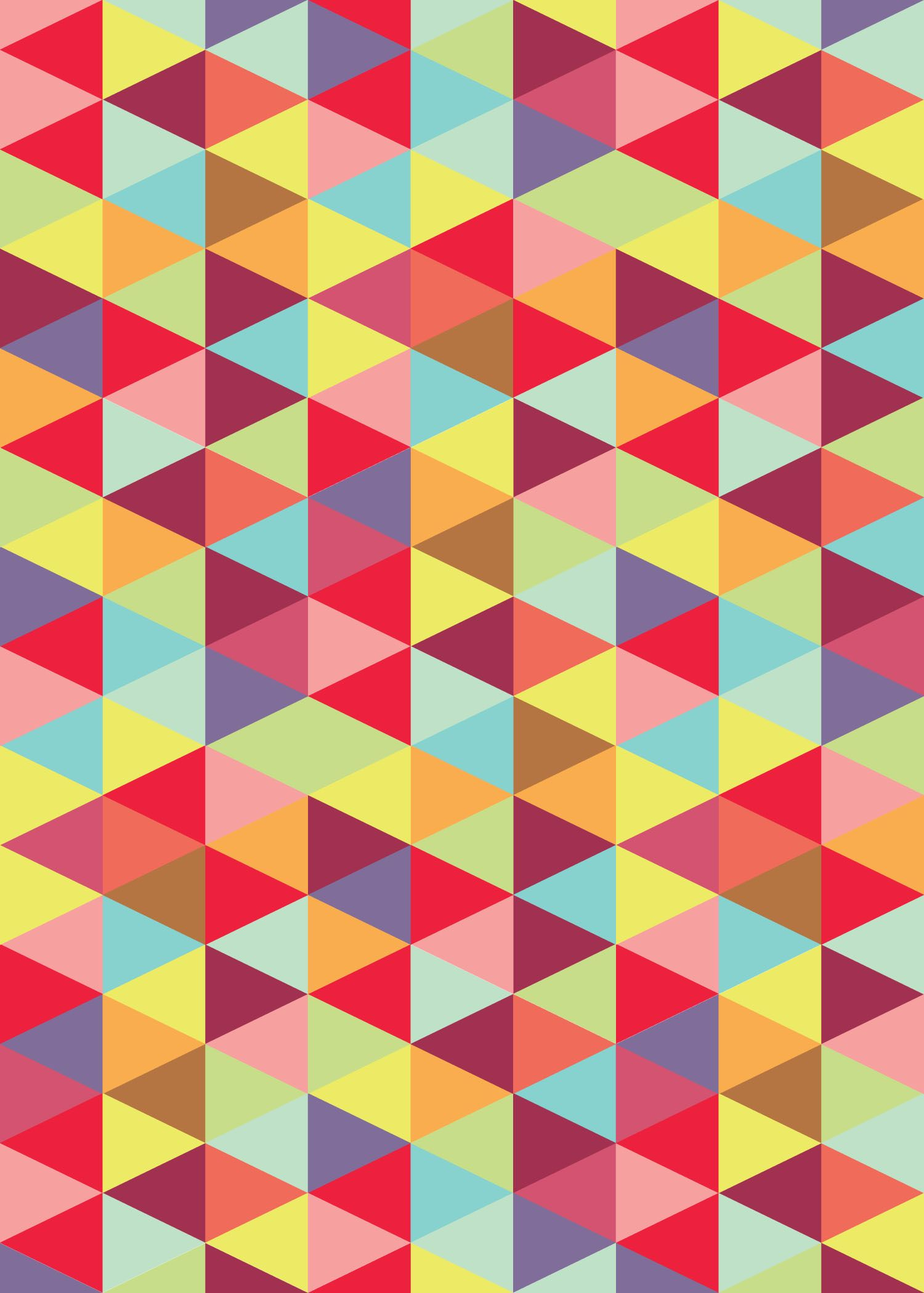 Colorful Triangle Pattern. | Patterned | Triangle pattern ...