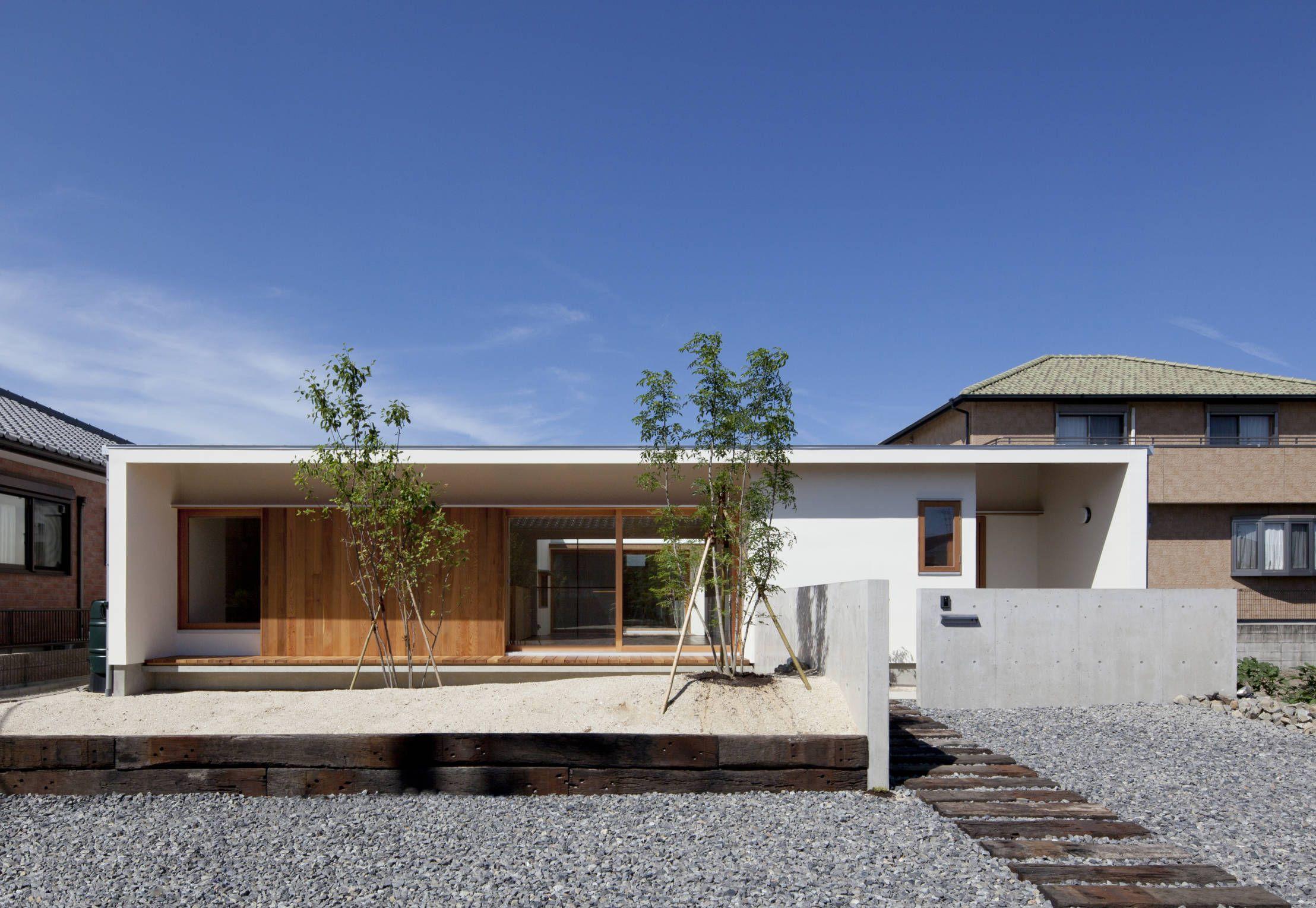 平屋外観の様々なスタイル 家の外壁 平屋外観 平屋 外観 シンプル