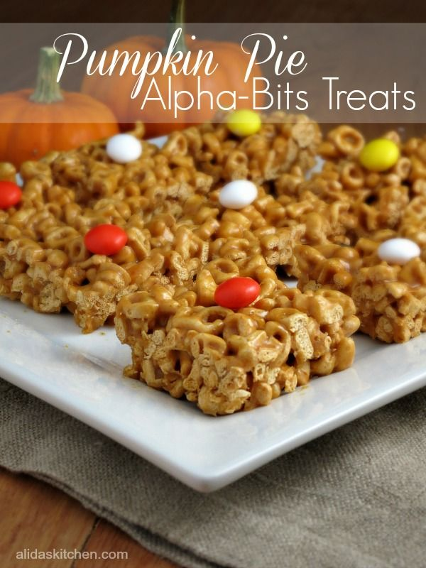Pumpkin Pie Alpha-Bits Treats | alidaskitchen #recipes #alphabits #spon