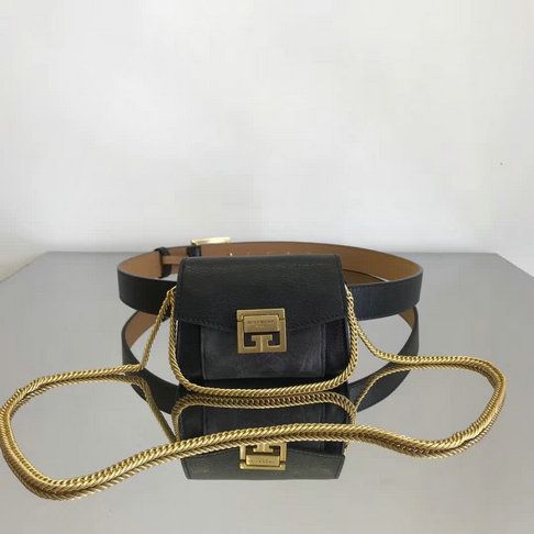 a87468abc3 2018 New Givenchy Nano GV3 Waist Bag in Leather and Suede