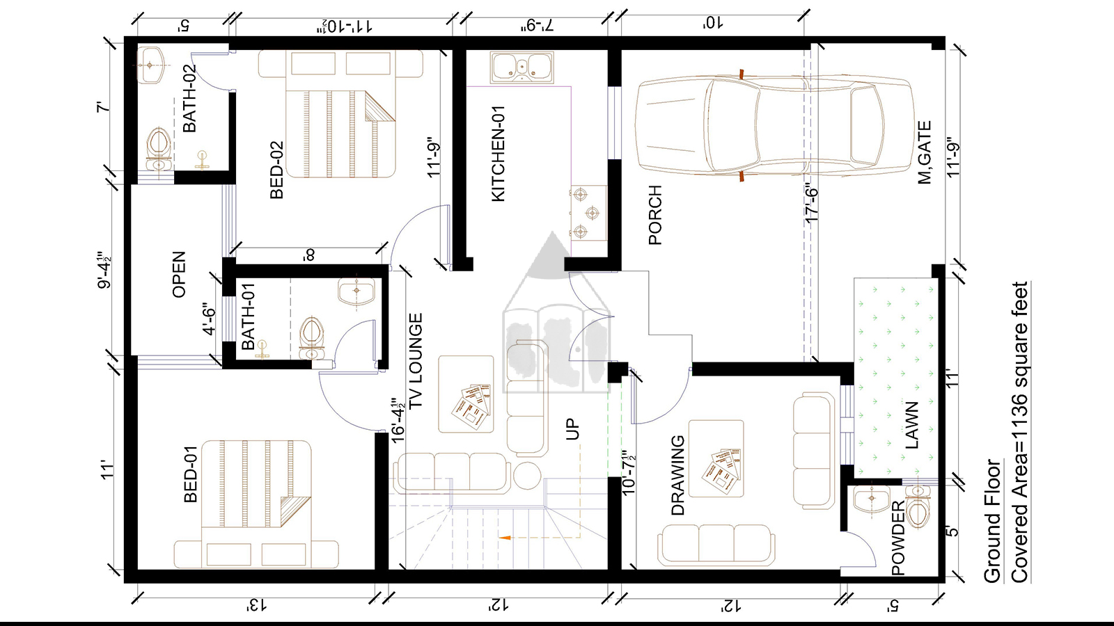 8 marla house layout plan for more layout plans visit 35x60 house plans