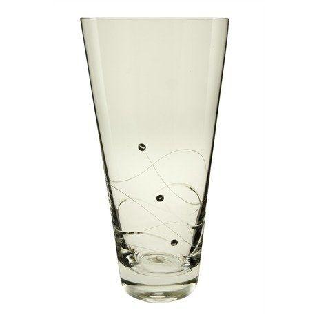 Dartington Crystal Handmade Swarovski Glitz Small Conical Vase 25cm