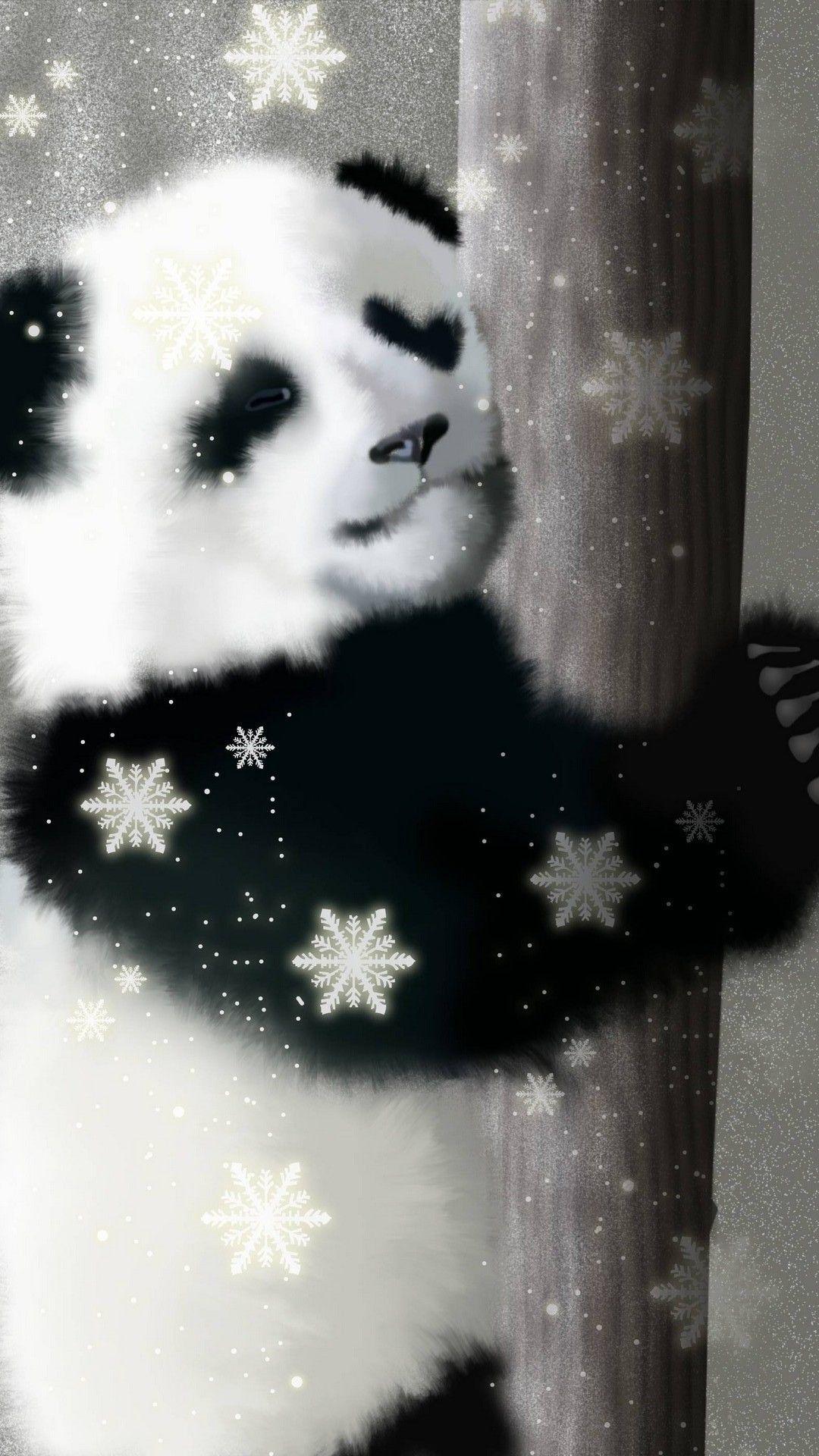 Black Panda Hd Wallpaper Android Cute Panda Wallpaper Panda Wallpapers Android Wallpaper
