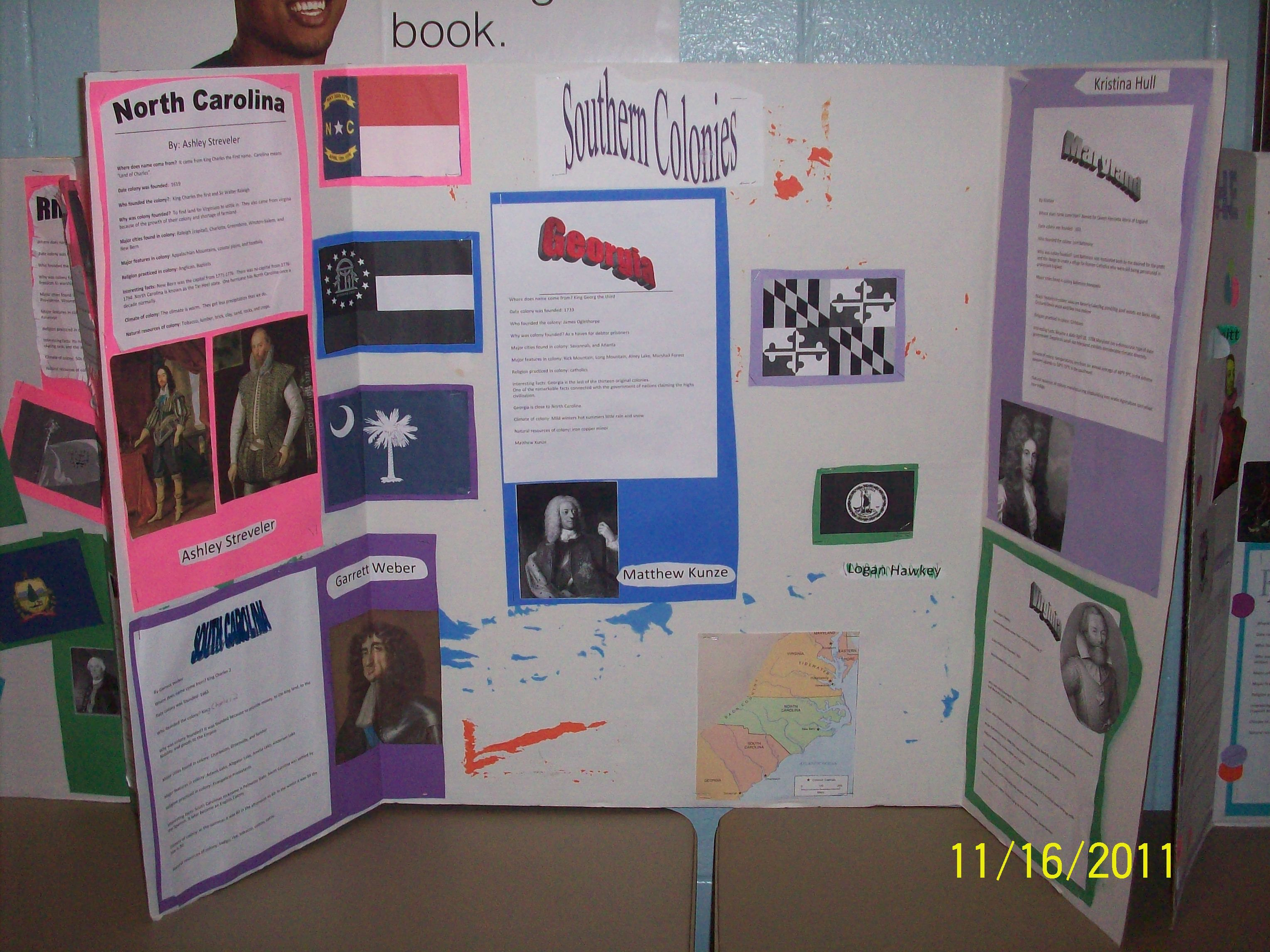 13 Colonies Display Project