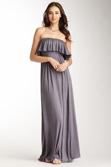 Blowout  Frenzii Strapless Ruffle Maxi Dress