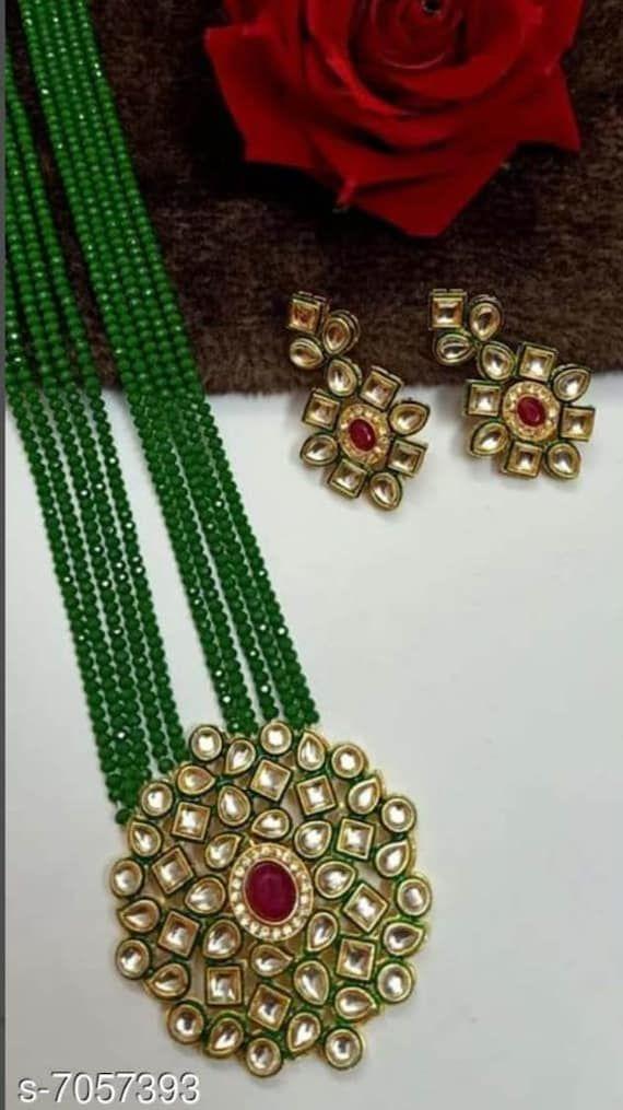 Lovely Indian jewelry / Royal wedding jewelry / Kundan bridal jewellery / Kundan Indian bridal set.