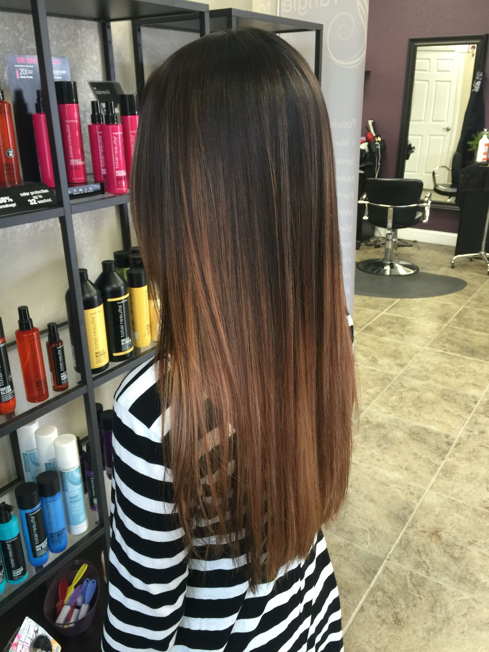 Dark Brown Amp Carmel Balayage Ombre Tangles To Toes