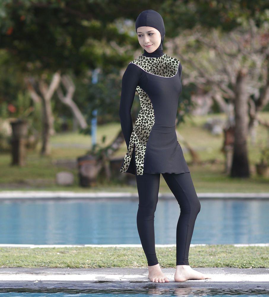 8465a414a9 LADIES MODEST SWIMWEAR BATHERS WOMEN LONG SLEEVES MUSLIM SWIMSUIT BATHING  SUIT