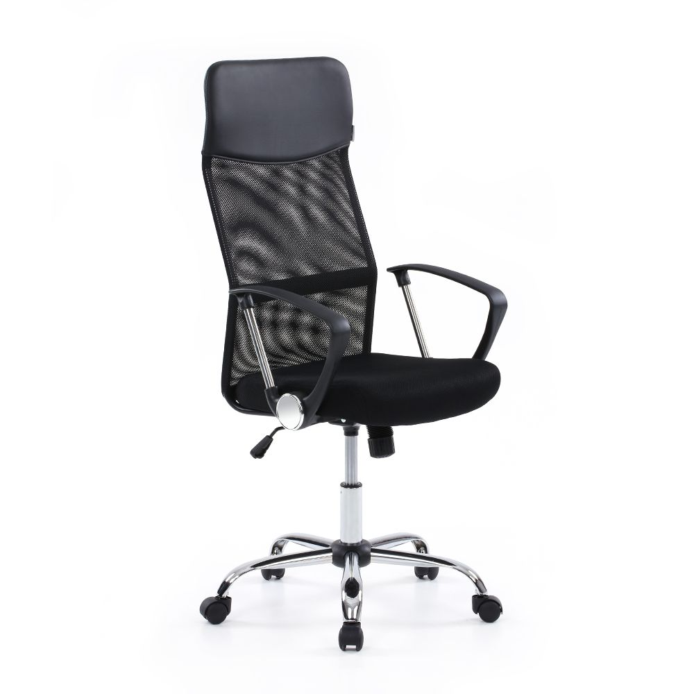 Both Seat And Gliding Caster Can Swivel U0026 Move Ergonomic High Back U0026 Sponge  Padded Seat For Whole Day Comfortable Sitting.