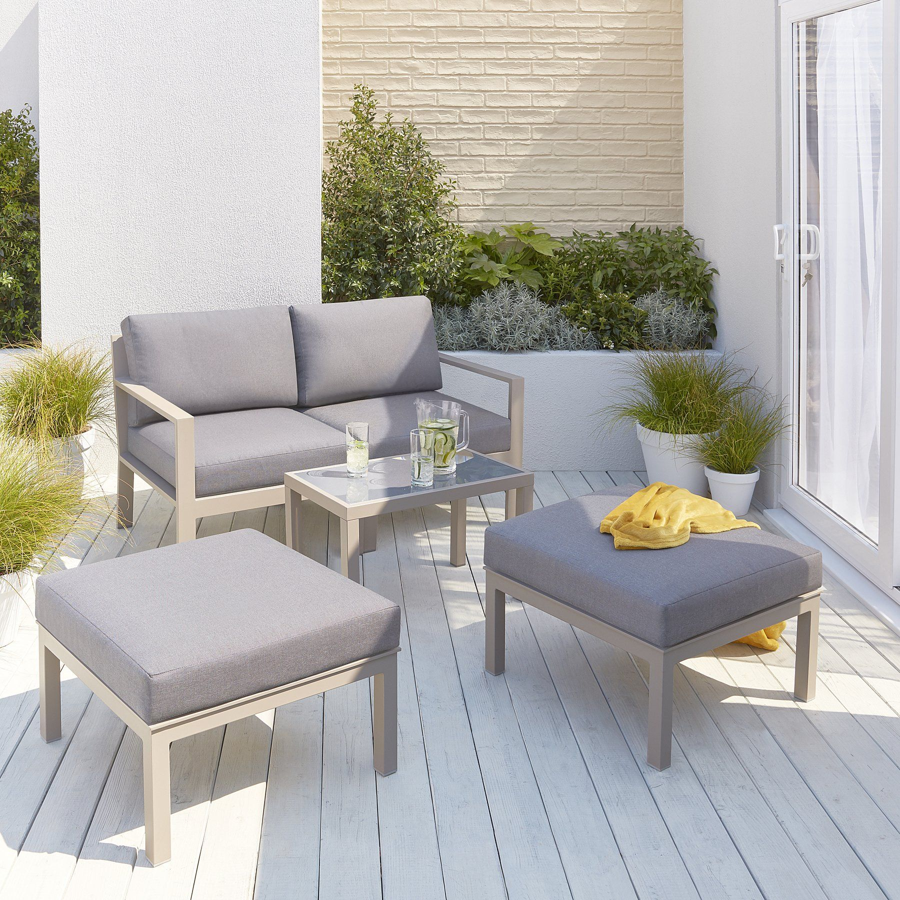 Tucabia 10 Piece Multiway Garden Sofa Set  Outdoor & Garden